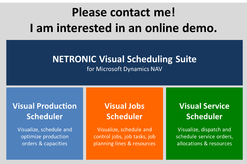 Schedule Online Demo For NAV Visual Scheduling Suite