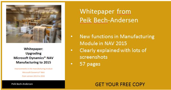 Free download: Whitepaper Upgrading Microsoft Dynamics NAV Manufacturing to 2015