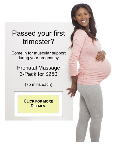 prenatal massage relax support special package
