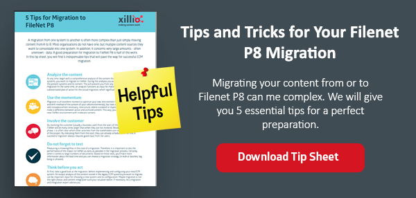Tips migration to Filenet P8