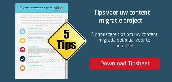5 tips voor een succesvolle content migratie