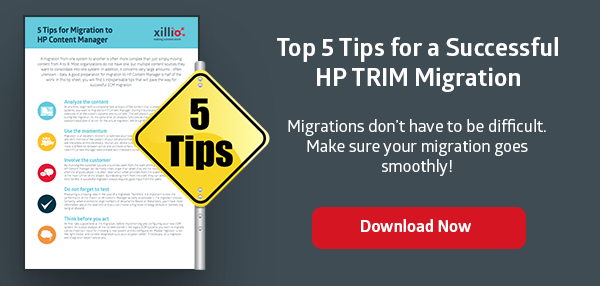migrate HP Content Manager or HP TRIM