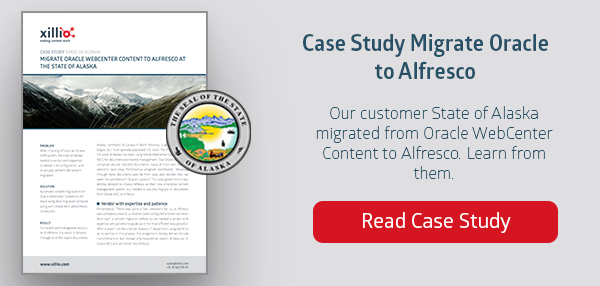 Migrating Oracle to Alfresco