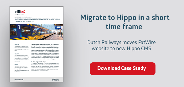 Migrate FatWire website to Hippo CMS in short time frame