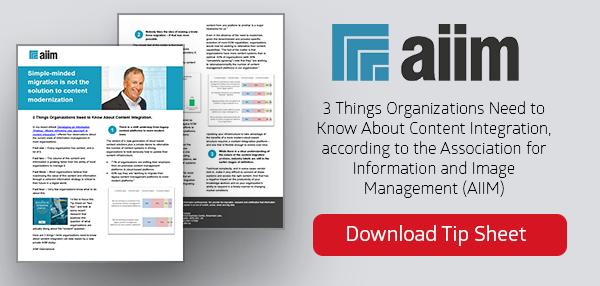 AIIM Tipsheet Content Modernization