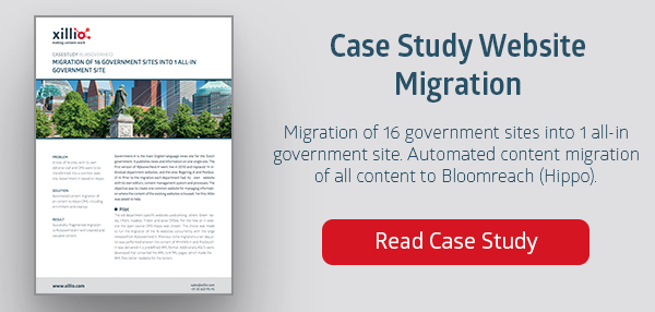 Example of Web Content Migration at Dutch Government