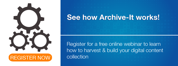 Register for an Archive-It webinar