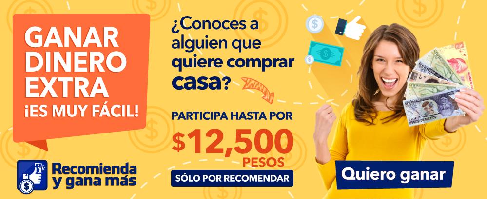 ¡Conoces a alguien que quiere comprar casa?, participa hasta por $12,500 pesos solo por recomendar