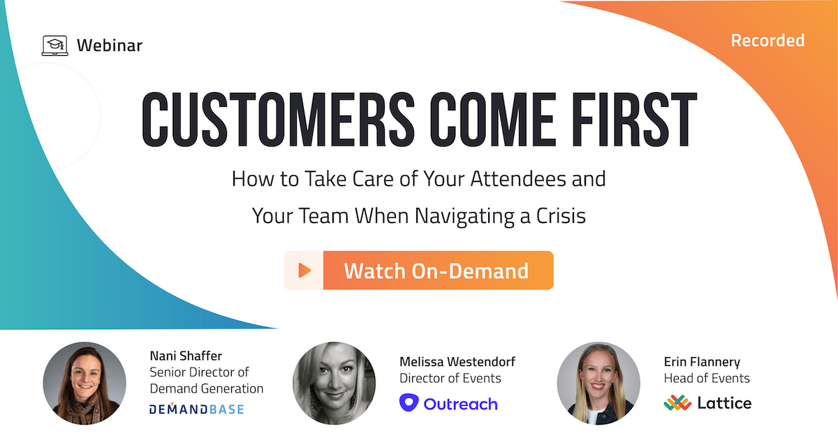 Watch the Customer's Come First Webinar On-Demand!
