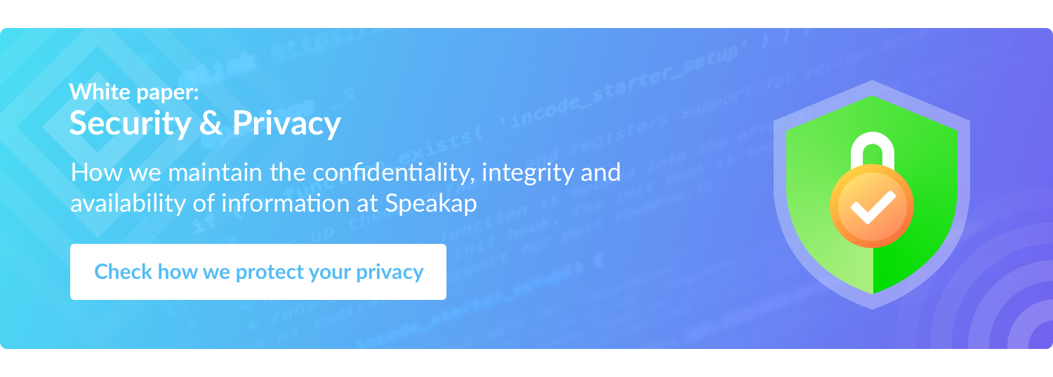 Security & Privacy at Speakap