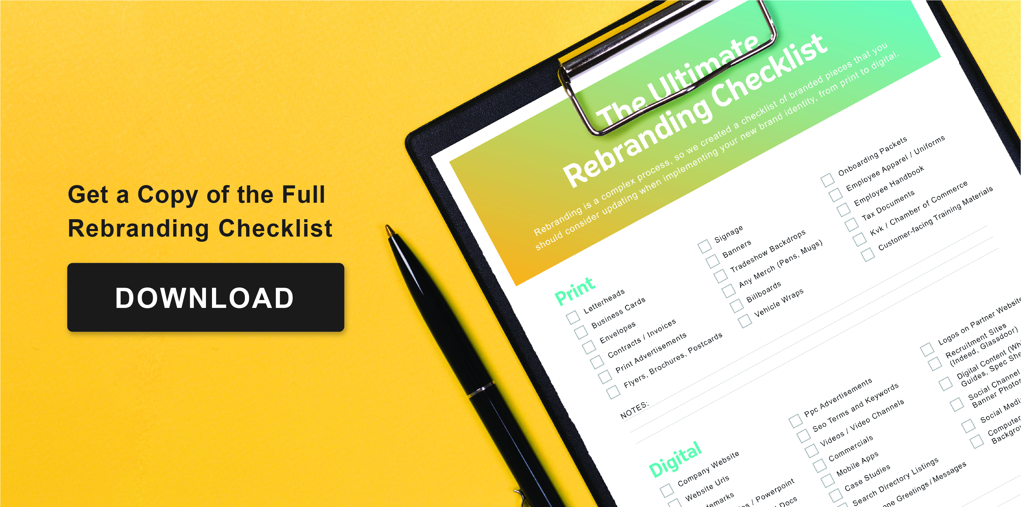Rebranding Checklist Download