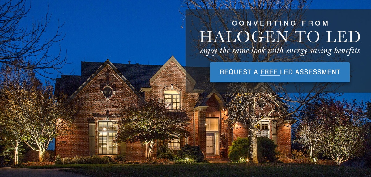 Get A Free Assessment to Your Halogen Landscape Lighting System to LED.