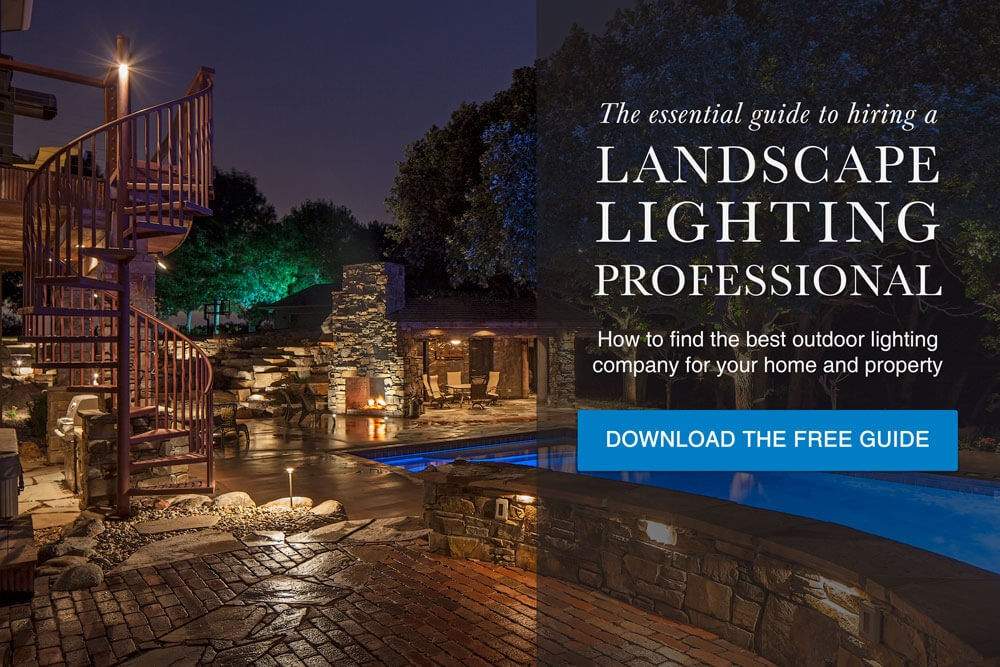 Download the essential guide to hiring an outdoor landscape lighting professional