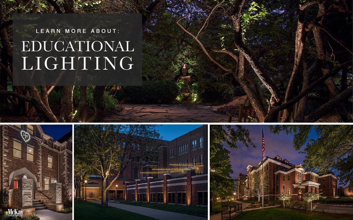Educational College University Campus Facility Low-Voltage Landscape Lighting Omaha Nebraska