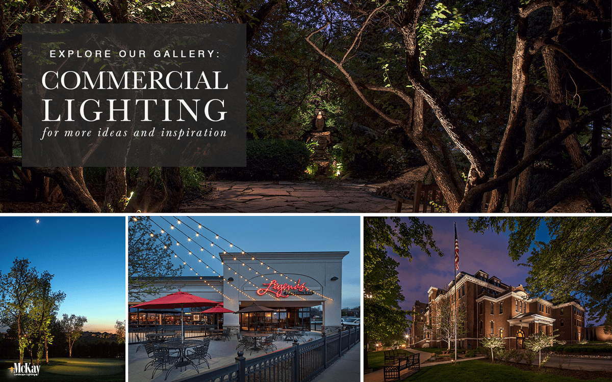 Outdoor Commercial Landscape Lighting Ideas - Browse Our Photos for Inspiration | McKay Landscape Lighting Omaha Nebraska