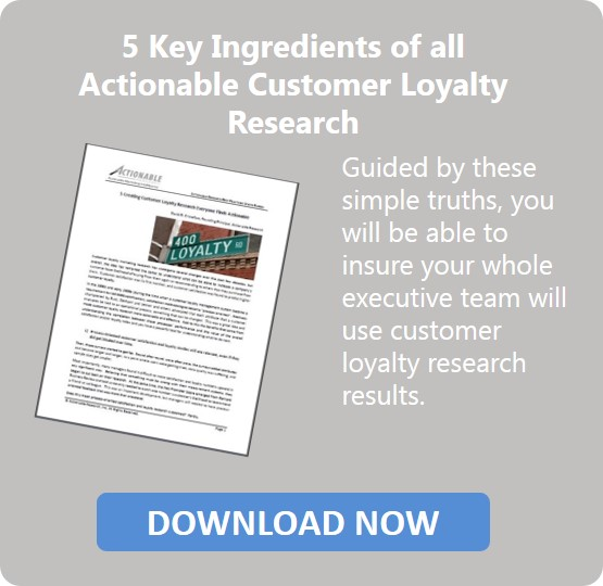 White Paper - Actionable Customer Loyalty Research