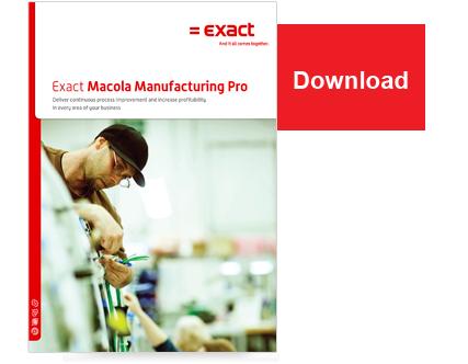 Exact Macola ES - Manufacturing