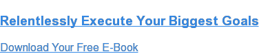 Relentlessly Execute Your Biggest Goals  Download Your Free E-Book