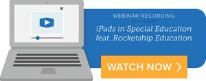 iPads in Special Education webinar