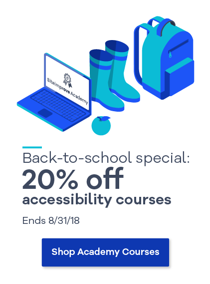 Back to school special: 20% off Siteimprove Academy courses
