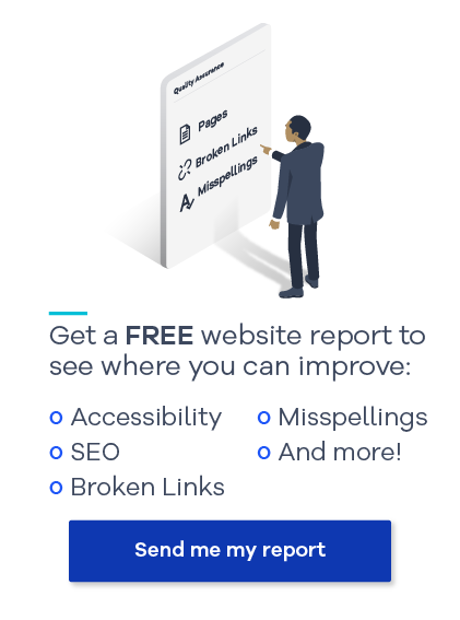 Get a free, personalize website report from Siteimprove