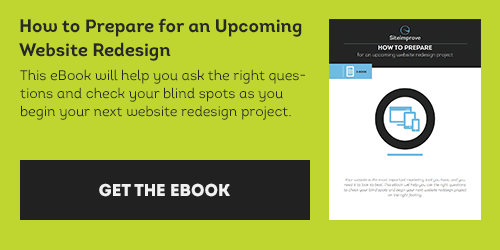Get the eBook 'How to prepare for an upcoming website redesign'