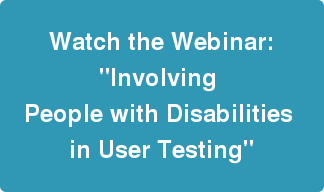 Register for the Involving People With Disabilities webinar