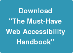 Download our web accessibility handbook- Click this image
