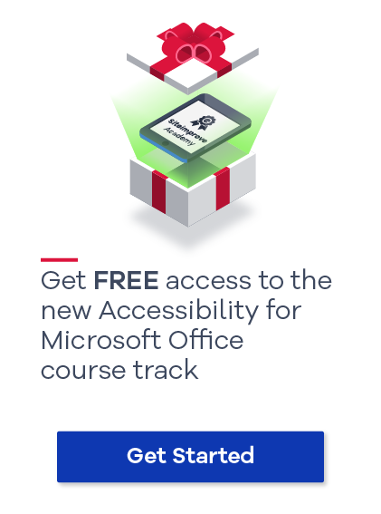 Get free access to the new Accessibility for Microsoft Office Course track