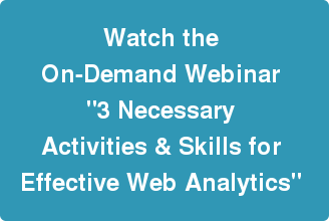 Watch Webinar on Skills for Effective Web Analytics