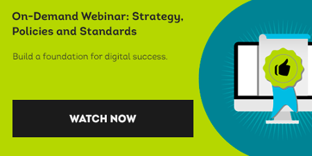 Watch On-Demand Webinar: Strategy, Policies and Standards.
