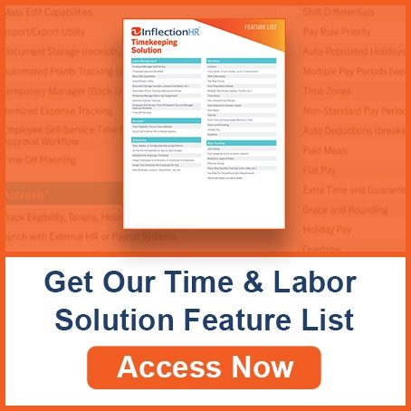 Timekeeping Solution Features List