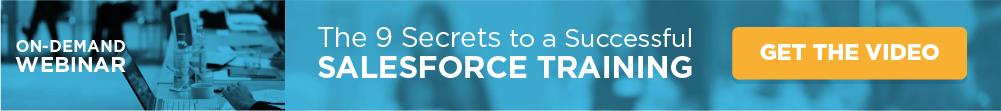 9 Secrets to a Successful Salesforce Training