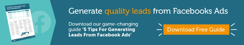 Generate quality leads from Facebook Ads. Download our game-changing guide '5 Tips For Generating Leads From Facebook Ads'.