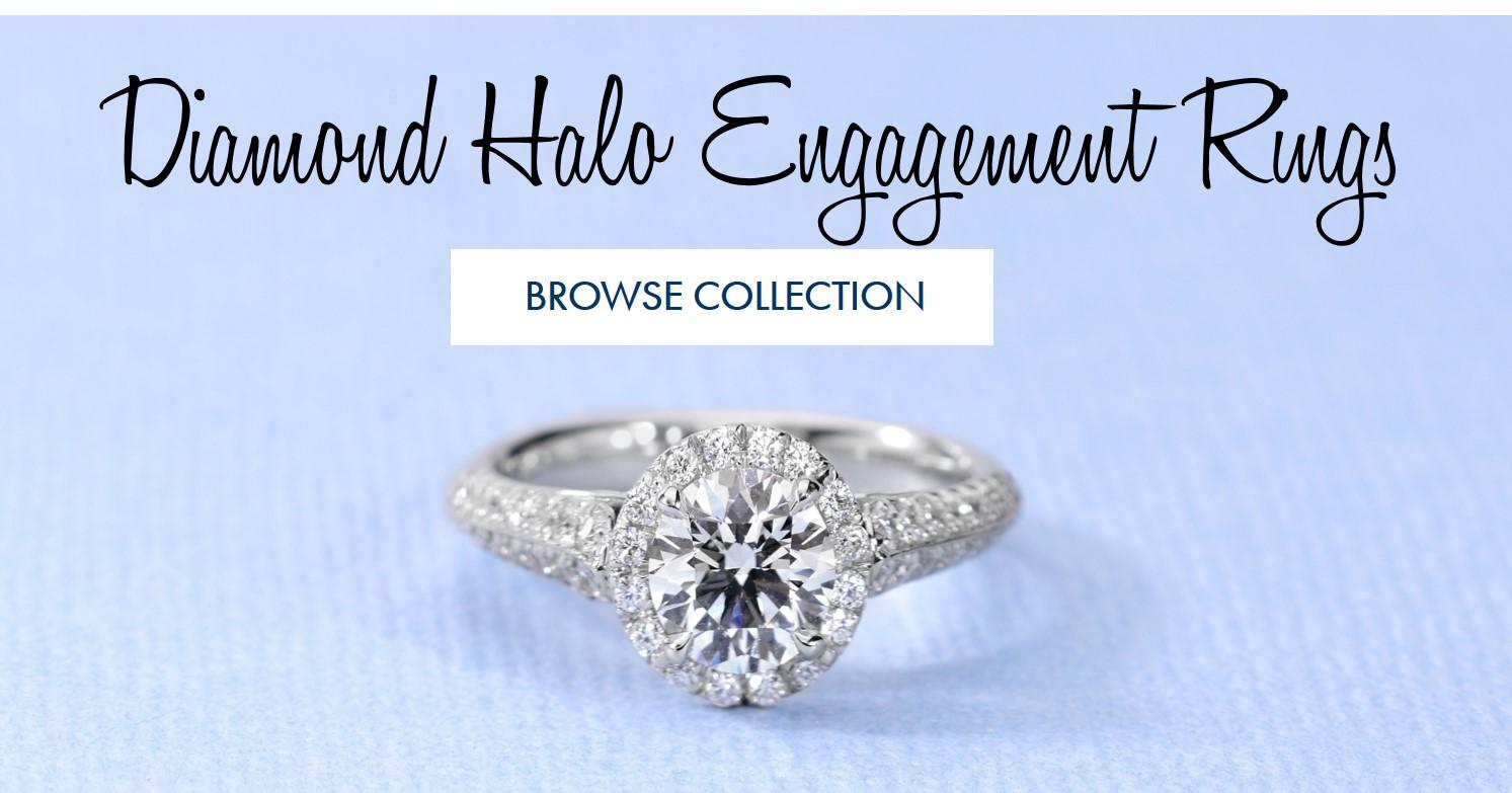 Shop Our Halo Engagement Rings