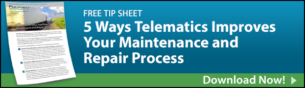 Free Tip Sheet: 5 Ways Telematics Improves Your Maintenance and Repair Process