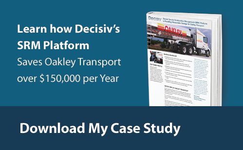 Learn how Decisiv's SRM Platform Saves Oakley Transport over $150,000 per Year