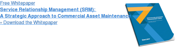 Free Whitepaper  Service Relationship Management (SRM):   A Strategic Approach to Commercial Asset Maintenance » Download the Whitepaper