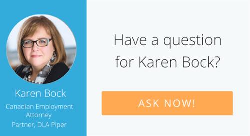 Ask our Canadian workplace expert, Karen Bock!
