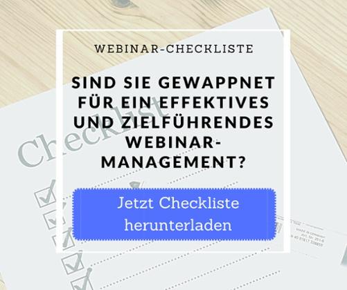 Webinar Checkliste