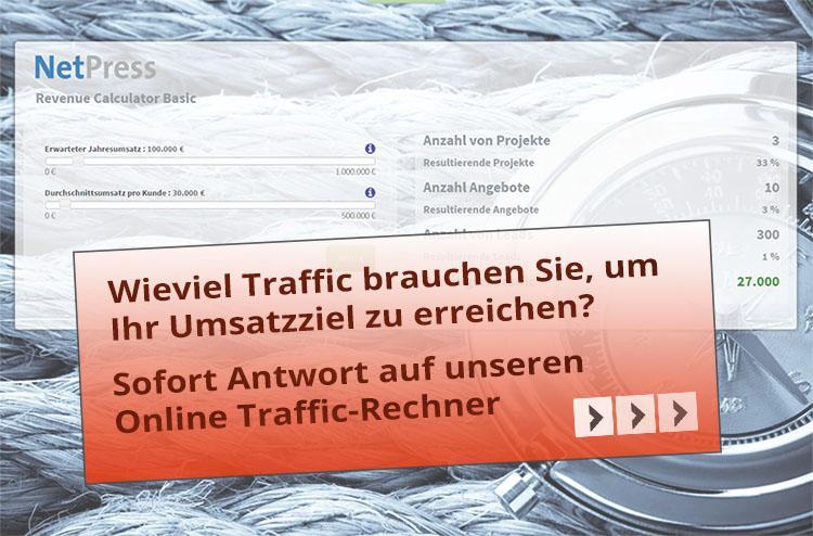 Wieviel Traffic für Ihr Umsatzziel