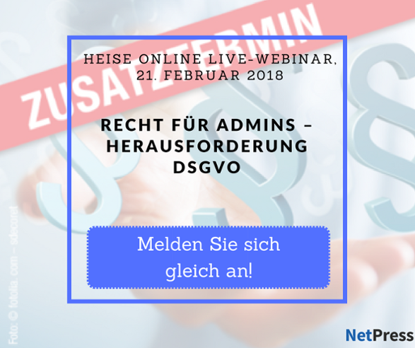 Heise online Live-Webinar DSGVO