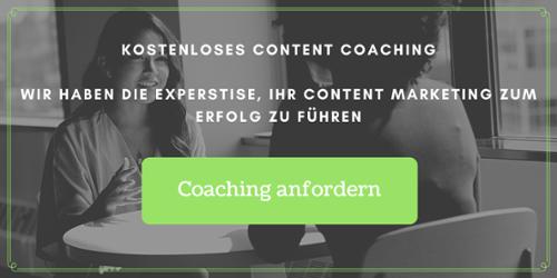 Kostenloses Content Coaching anfordern