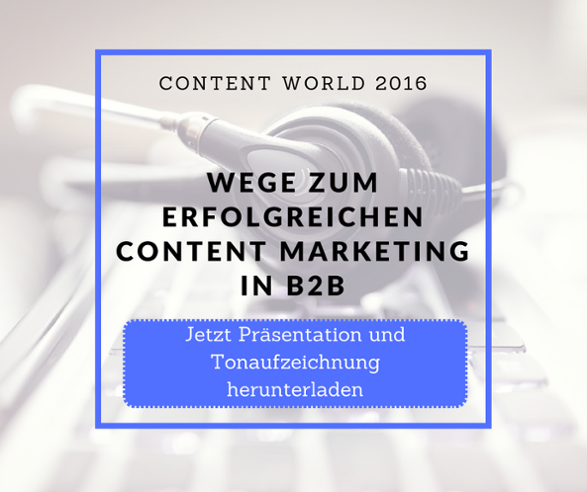 Download Vortrag Content World 2016