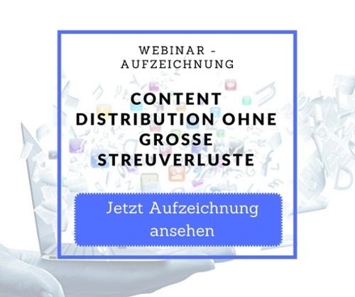 Webinar Aufzeichnung Content Distribution