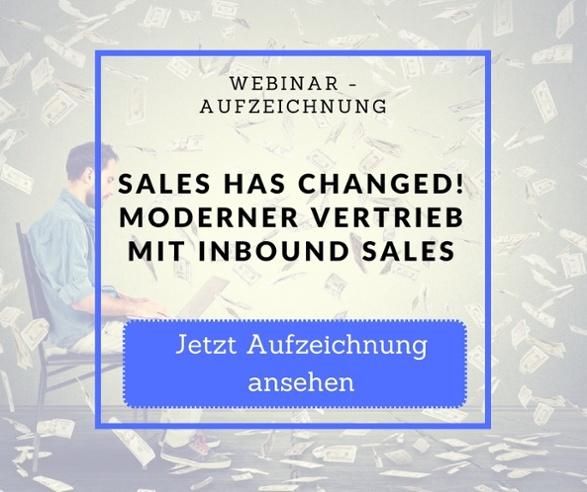 Webinar Aufzeichnung Sales