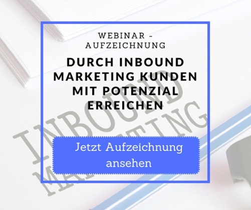 Webinar Aufzeichnung Inbound Marketing