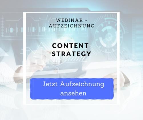 Webinaraufzeichnung Content Strategy