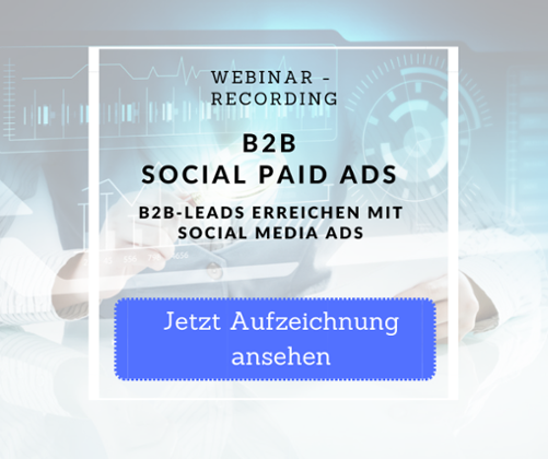Webinaraufzeichnung B to B Social Paid Ads