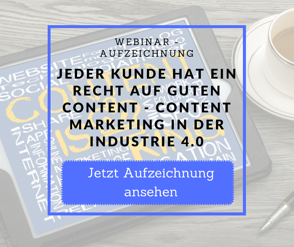 Webinar Aufzeichnung Content Industrie 4.0